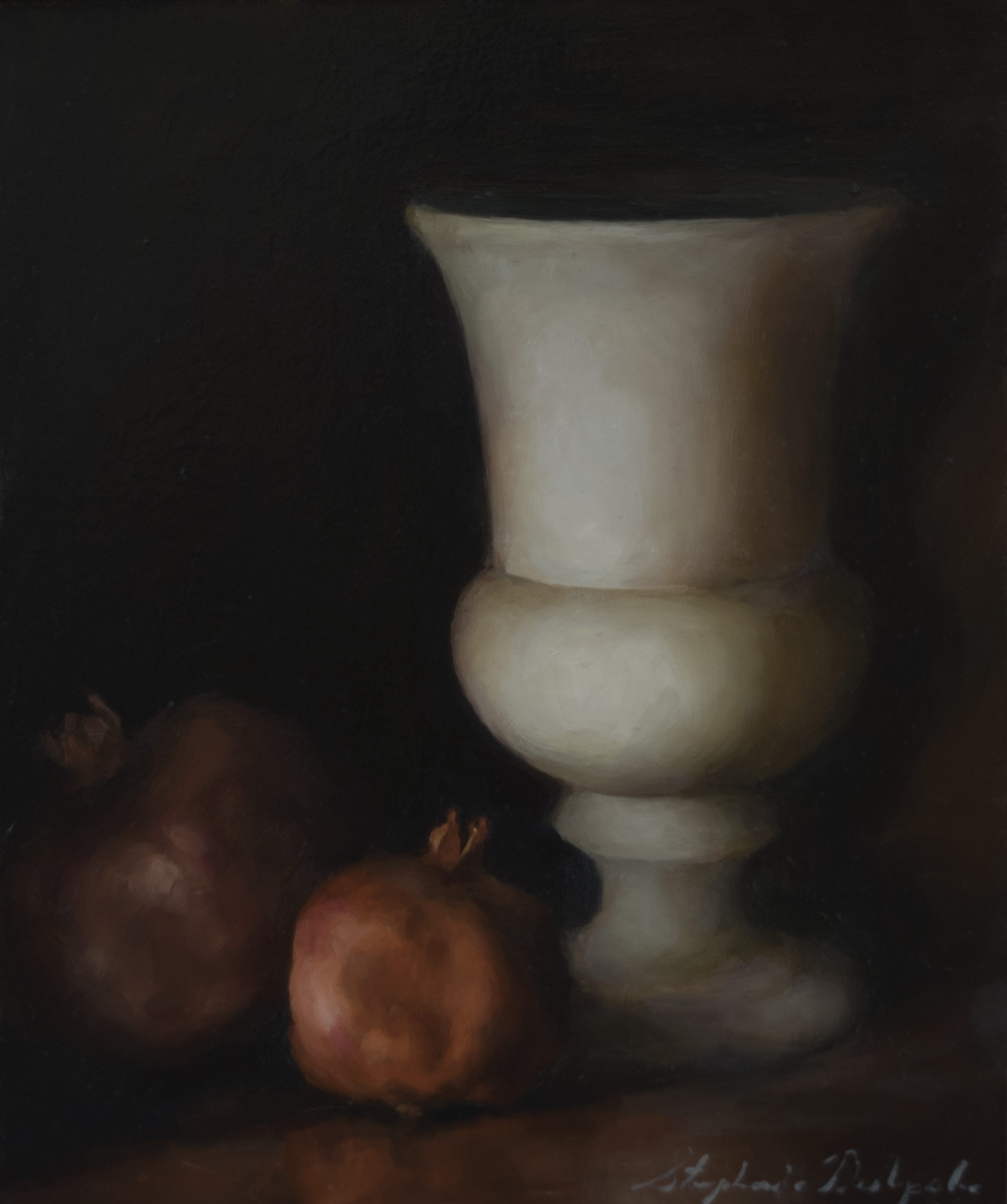 Pomegranates and Vase